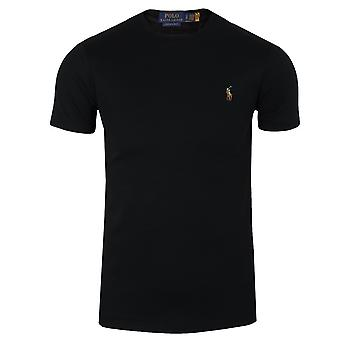 Ralph lauren men's black pima t-shirt