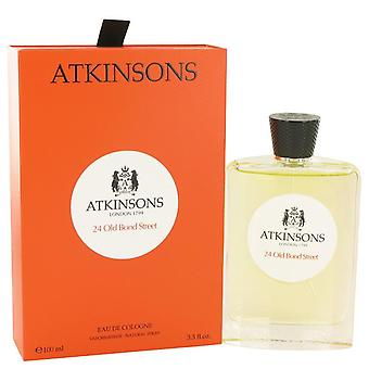 24 Old Bond Street Eau De Cologne Spray By Atkinsons 3.3 oz Eau De Cologne Spray