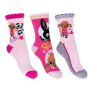 Bing 3-pack socks - Pink