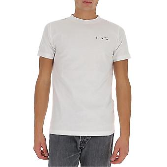 T-shirt in cotone bianco Omaa027f20fab0080110 Men's White Cotton