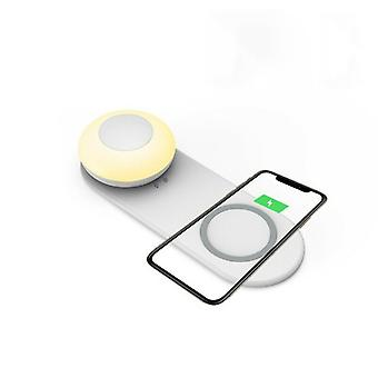 Zikko Zw8010 Wireless Charger Quick Witted 2in1 With Night Light Lamp 10w Iphone X