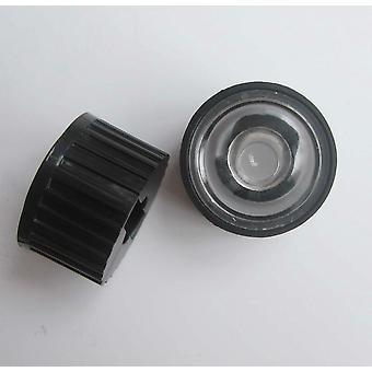 10pcs LED-Objektiv mit schwarzem Halter für High Power Lampe Licht