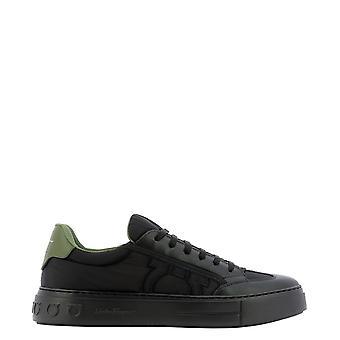 Salvatore Ferragamo 734301 Men's Black Nylon Sneakers