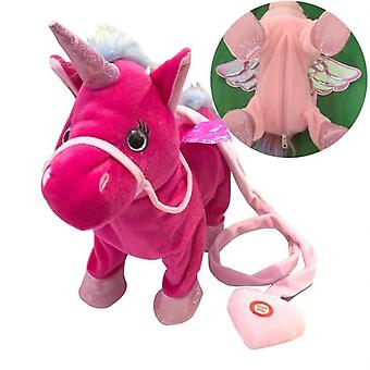 Electric Walking Magic Unicorn Peluche Jouet Pour Noël ( 35*30*10cm)