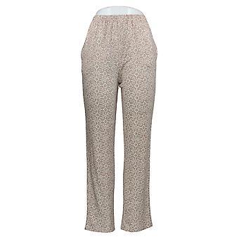 Carole Hochman Women's Lounge Pants Medallion Geo Beige A381865