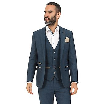 Marc Darcy Dion Blue Vintage Tweed Costume Blazer