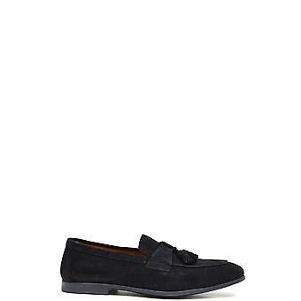 Doucal's Ezbc089045 Men's Blue Suede Loafers