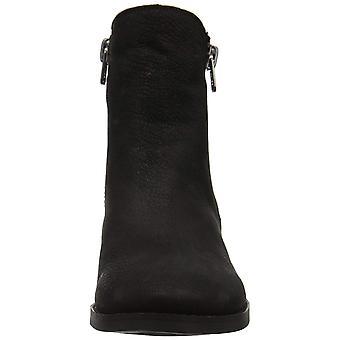 محظوظ العلامة التجارية النساء كالي الجلود مغلقة Toe الكاحل أحذية الأزياء