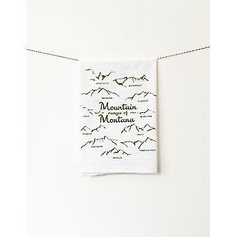 Mountain Ranges Of Montana-cotton Kitchen Towel