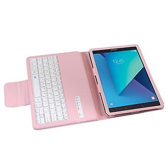Pour Galaxy Tab S3 9.7 / T820 2 en 1 Boîtier en cuir de texture Bluetooth détachable avec support (rose)