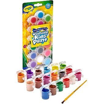 Pintura infantil lavable Crayola, paquete de 18 - multicolor