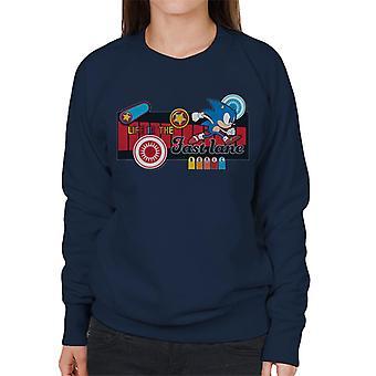 Sonic der Igel Ikonen Leben in der Fast Lane Frauen's Sweatshirt
