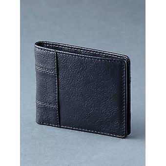 Staveley bi-Fold läder plånbok i klassisk svart