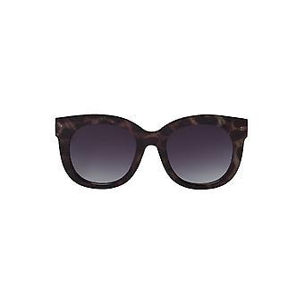 Louche Womens Zabi Glitter Tortoise Shell Sunglasses Purple