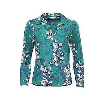 Cyberjammies 4065 vrouwen Rosie Emerald groen Floral Print pyjama's Top