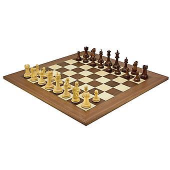 Madrid Grand Sheesham and Walnut Luxury Chess Set