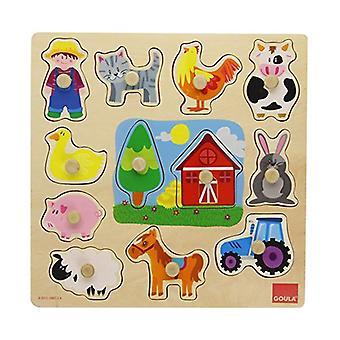 Child's Holz Puzzle Diset (12 Stück)