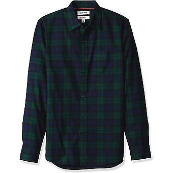 Goodthreads Men's Slim-Fit Camicia a maniche lunghe spazzolata, Navy Black Watc...