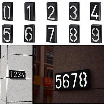 Aurinkovalo Led House numero ovilevy osoite lamppu ladattavalla akulla