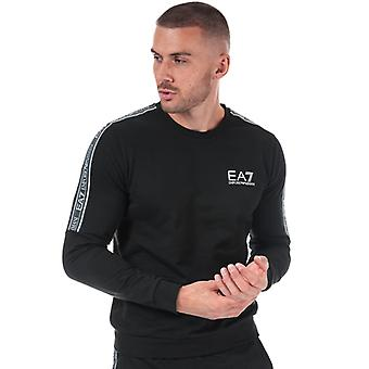 Men's Emporio Armani EA7 Logo Tape Crew Sweatshirt in Black