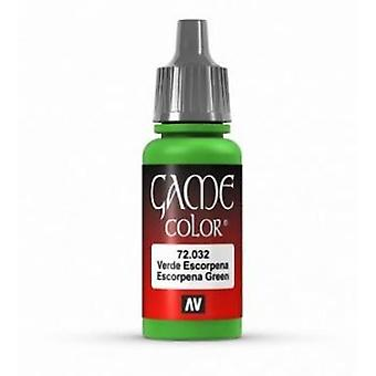 Vallejo Game Color 17ml Acrylic Paint 32 Scorpy green