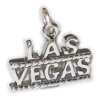 Las Vegas Sterling Silver Charm Gamble .925 X 1 Usa North America Charms - 2863