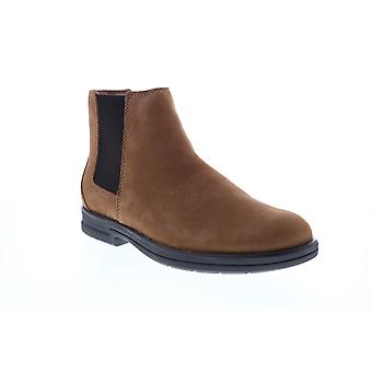 Clarks Banning Limit  Mens Brown Wide Nubuck Slip On Chelsea Boots