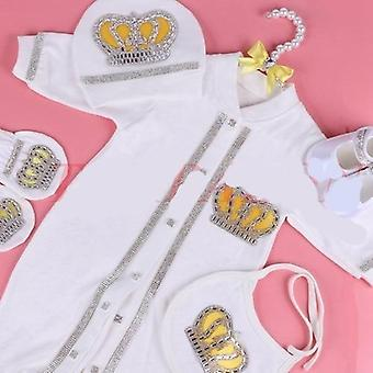 Newborn  Clothes Set, Cotton Bodysuit With Crown