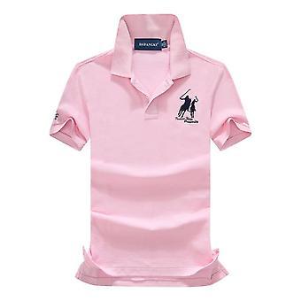 メンポロシャツ、ソリッドカジュアルティーシャツ、トップススリムフィット