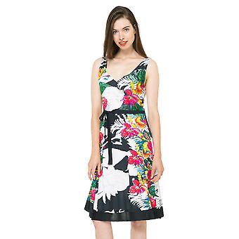 Desigual naiset ' s Hallen Hourglass trooppinen kukka mekko