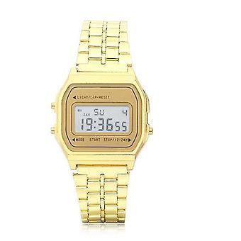 Men Fashion Digital Rectangle Dial Alarm Chronograph Alloy Band Sport Watch