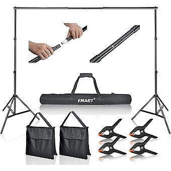 Photo Video Studio 2m x 3m Adjustable Background Stand Backdrop