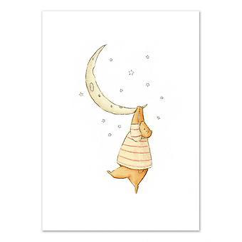 Art-Poster - Utknął na księżycu - Mike Koubou