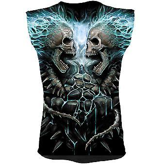 Flaming Spine Allover Sleeveless T-Shirt