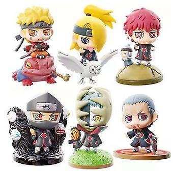 6pcs Naruto Figure Toy Twisted Egg Anime Doll Model