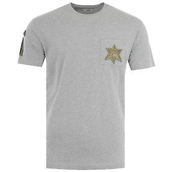 Maharishi Star Patch Organic Cotton T-Shirt - Grey