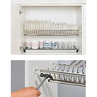 Aburrido diy libre 2 niveles armario de armario de acero inoxidable dentro de la placa del plato