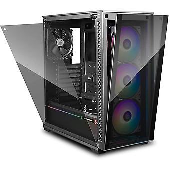 DEEP COOL MATREXX 70 3F PC-Gehuse Case, E-ATX-Untersttzung, One-Touch-Release-Frontblende, einfach
