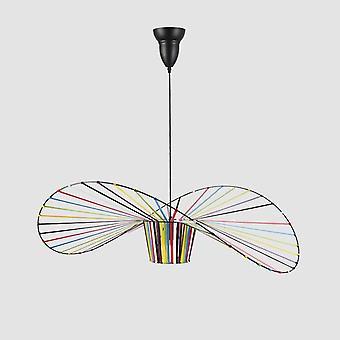 Moderno sombrero de paja colgante luz colgante lustre lámpara nórdica minimalista creativo para comedor dormitorio bar cafetería