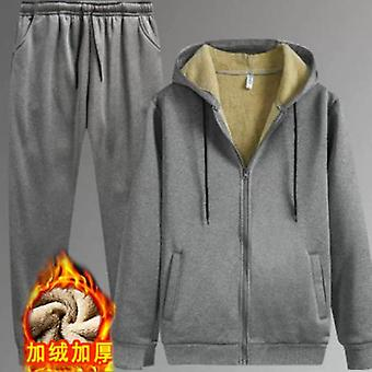 Warm Sport Suit, Men Set, Winter Sportsuit, Thermal Hoodies Sets, Fleece