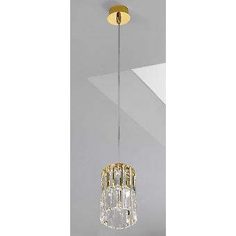 Kolarz PRISMA - Diseñador Crystal Colgante Ligero Pulido Oro, 1x G9