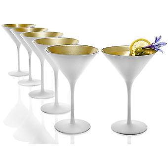 HanFei Elements Cocktailschale, Glas, Matt White Gold, 240ml, 6