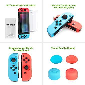 FengChun Zubehör Set für Nintendo Switch - Beinhaltet Ameise Muster Fall für Schalter / 24+2 Game-Card