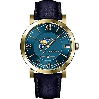 LLARSEN Analogueic Watch Men's Quartz with Leather Strap 180GDG3-GBLUE20