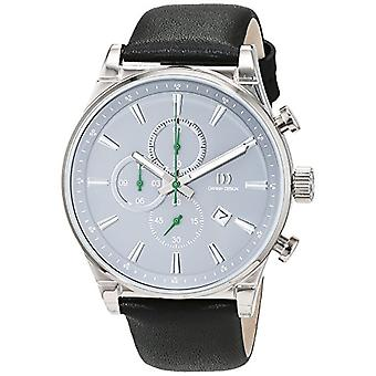 Danish Design 3316347 - Men's wristwatch, Leather, color: Black