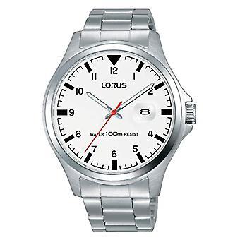 ساعة لوروس للكوارتز التناظرية للرجال مع حزام الفولاذ المقاوم للصدأ RH965KX9