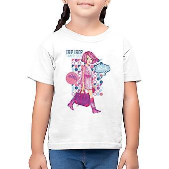 Sindy Drip Drop Time To Shop Kid's T-Shirt