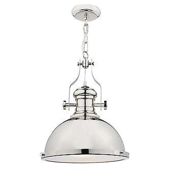 DAR ARONA Dome Vedhæng Light Poleret Chrome, 1x E27