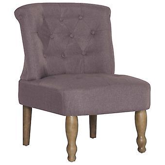 vidaXL Franse stoel Taupe stof