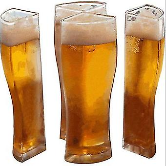 6.6Cm تصميم فريد زجاج البيرة x1104